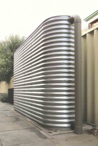 Aquaplate steel rainwater tank