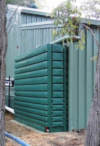 Thin Tanks 2000L super slimline poly rainwater tank
