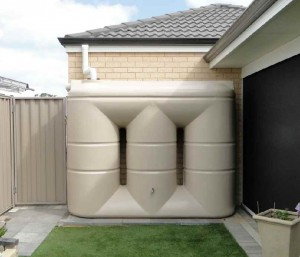 West Coast Poly 3000L slimline rainwater tank