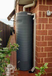 Tall slender 550L rainwater tank